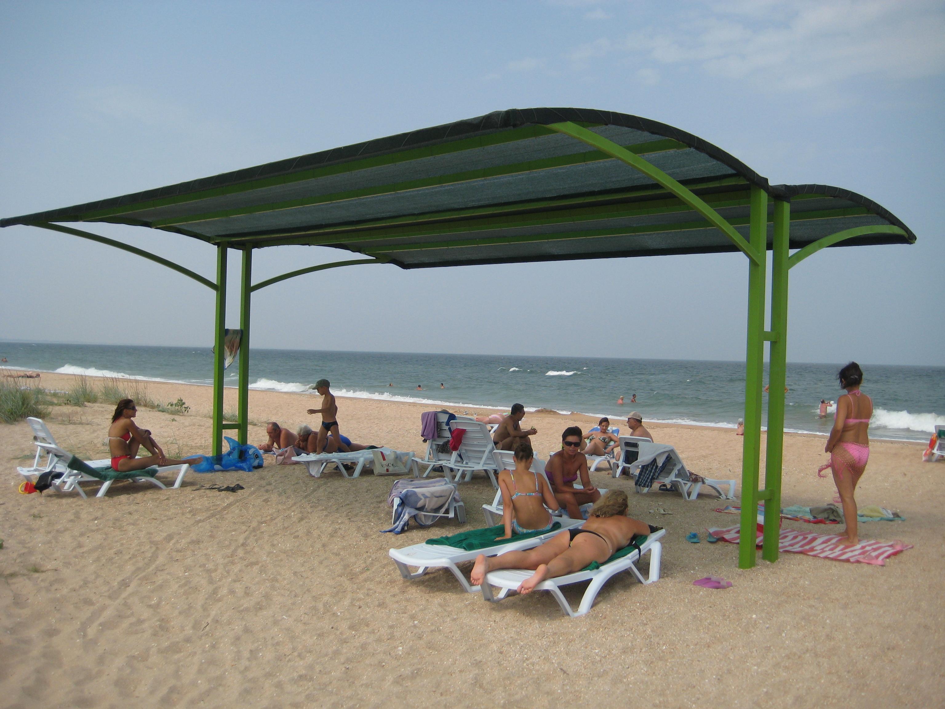 Пляж в Новоотрадном в Крыму - карта, фото, видео, описание